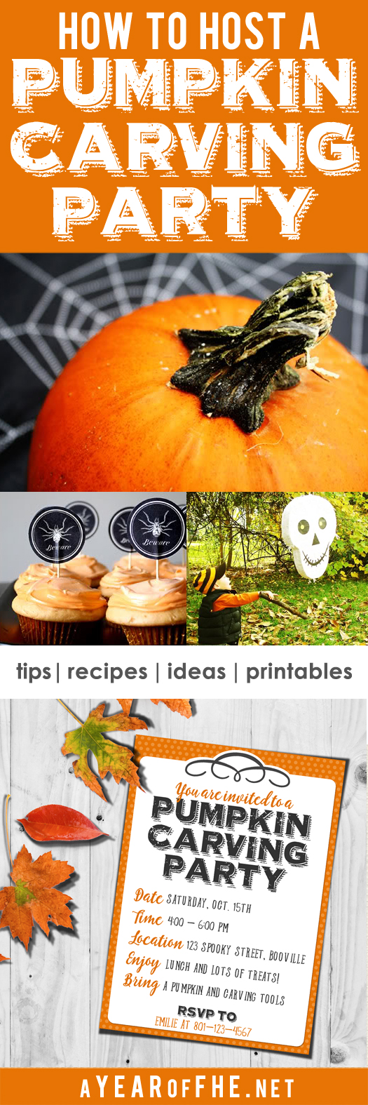 How To Host A Pumpkin Carving Party A Free Printable Invitation Tips From A Typical Mom