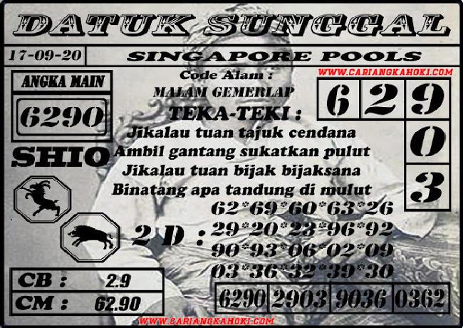 Kode syair Singapore Kamis 17 September 2020 136