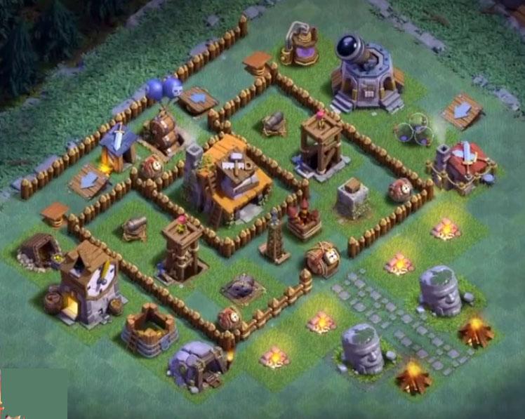 Base Coc Th 4 Mode Malam Terkuat 9