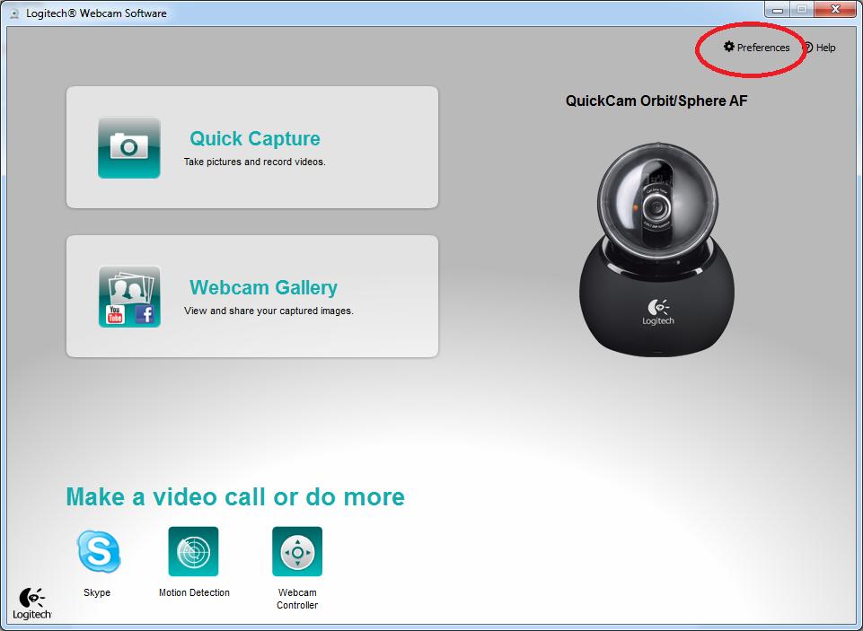 Logitech orbit webcam