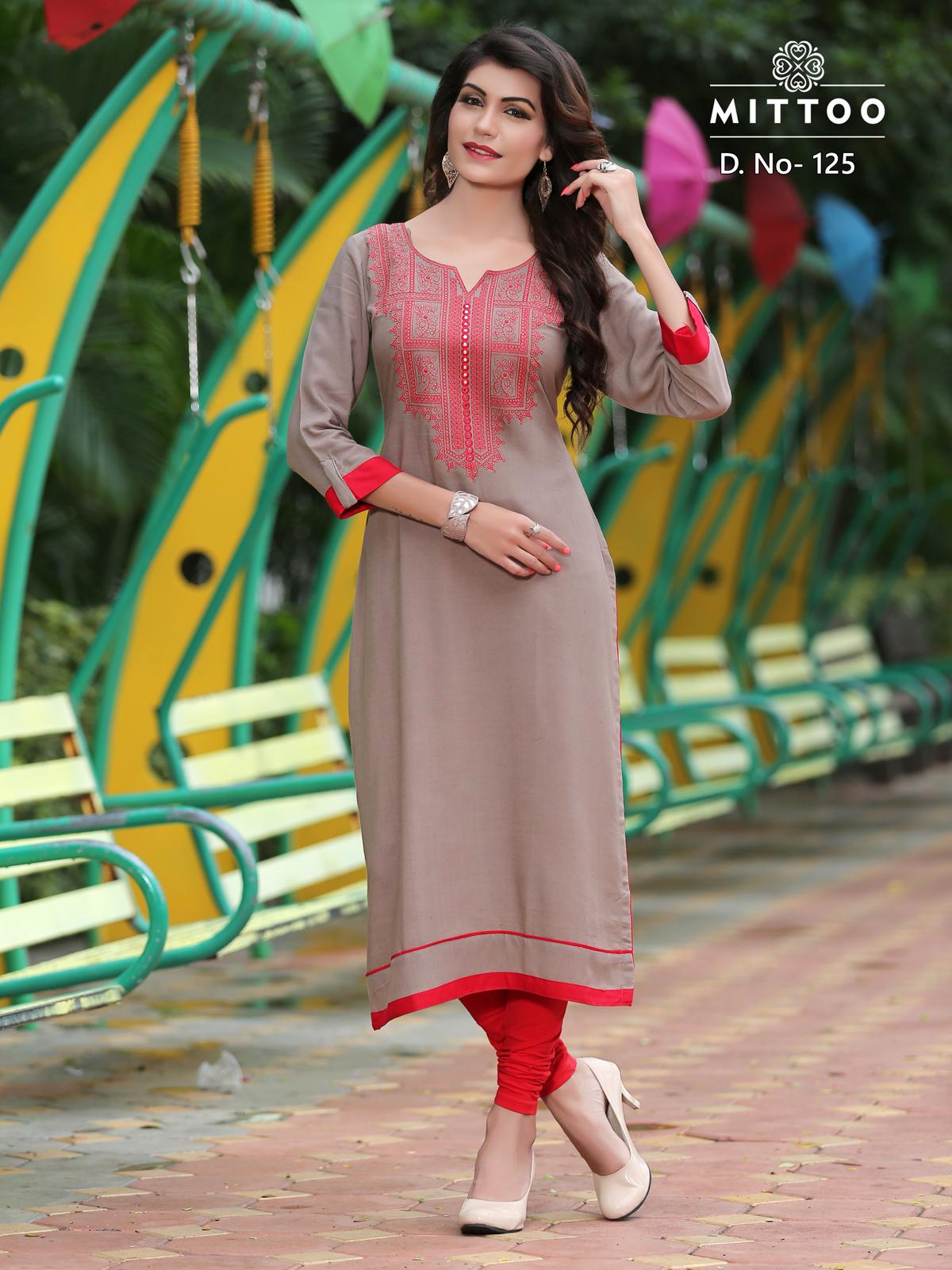 Payal : Mittoo Rayon Embroidery Kurti