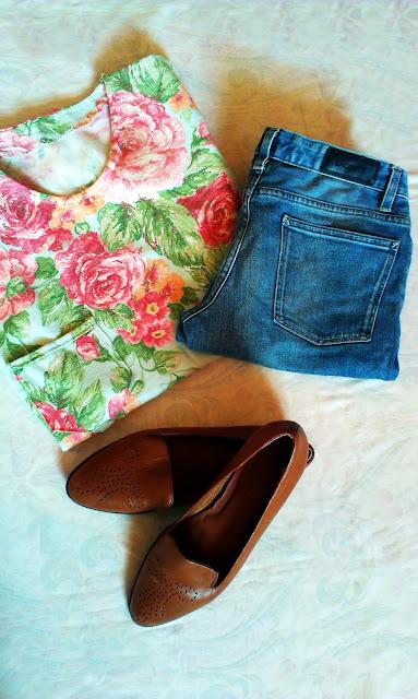 Bluzka z zasłony + wiosenna stylizacja