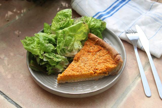 Tarte salée courge cacahuète (vegan)