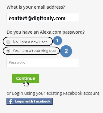 how to submit and verify for alexa ranking