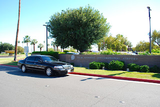 Limo at Palm Springs Airport