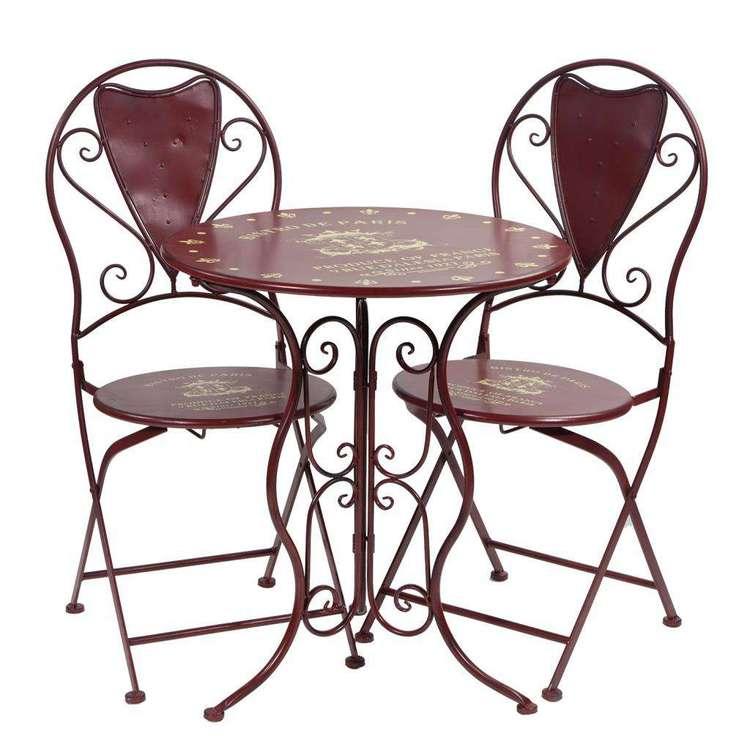 Muebles de forja mesa y sillas terraza vanila for Conjunto mesa y sillas terraza