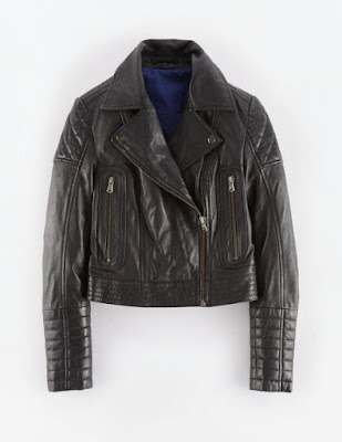 Boden Leather Biker Jacket