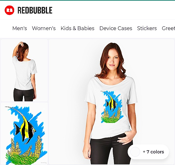 Moorish Idol Fish T-shirt from Redbubble
