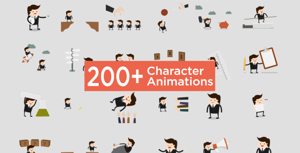 Animated Icons Featured Image Character Animation Pack Videohive