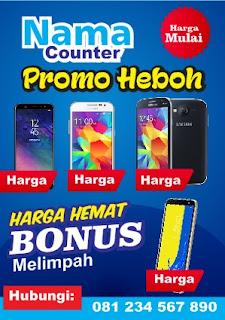 Contoh Brosur Promo Handphone Ukuran A4 Tips Mendesain