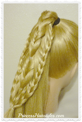 Braided Edge Banded Fishtail Braid Tutorial