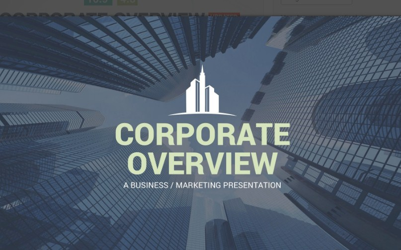 Latest Corporate Overview PowerPoint Template Free