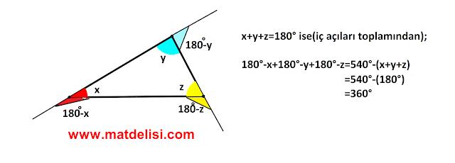 üçgen 360° kanıtı