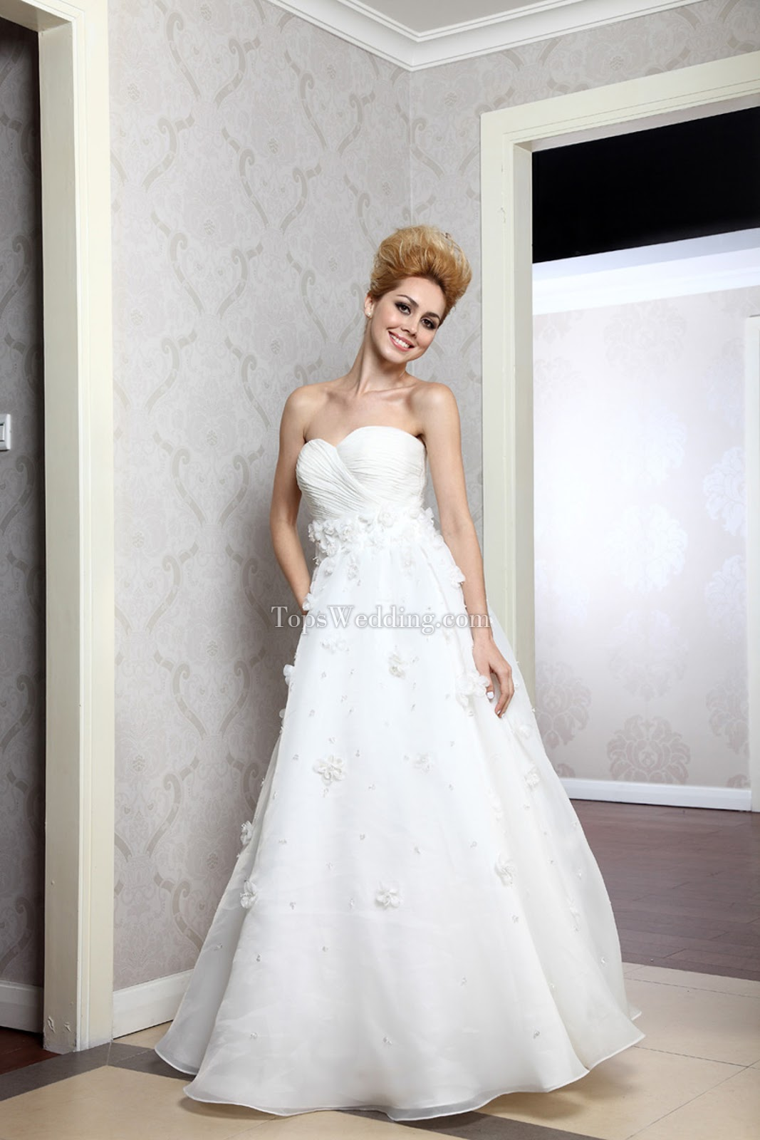 Empire waist wedding dresses, topwedding.com
