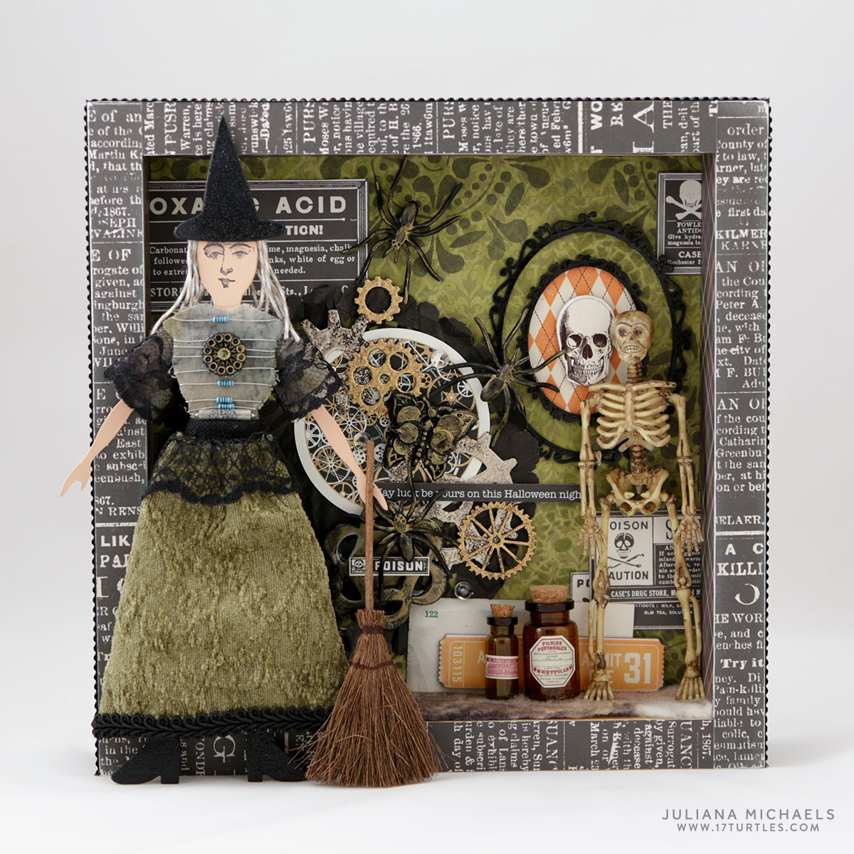 Halloween Mixed Media Shadow Box Starting From The Same