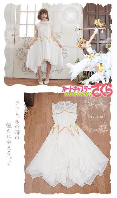 Sakura Card Captors Clear Card faz parceria com empresa de vestidos