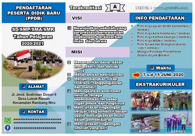 gambar brosur ppdb 2020-2021 sd smp sma