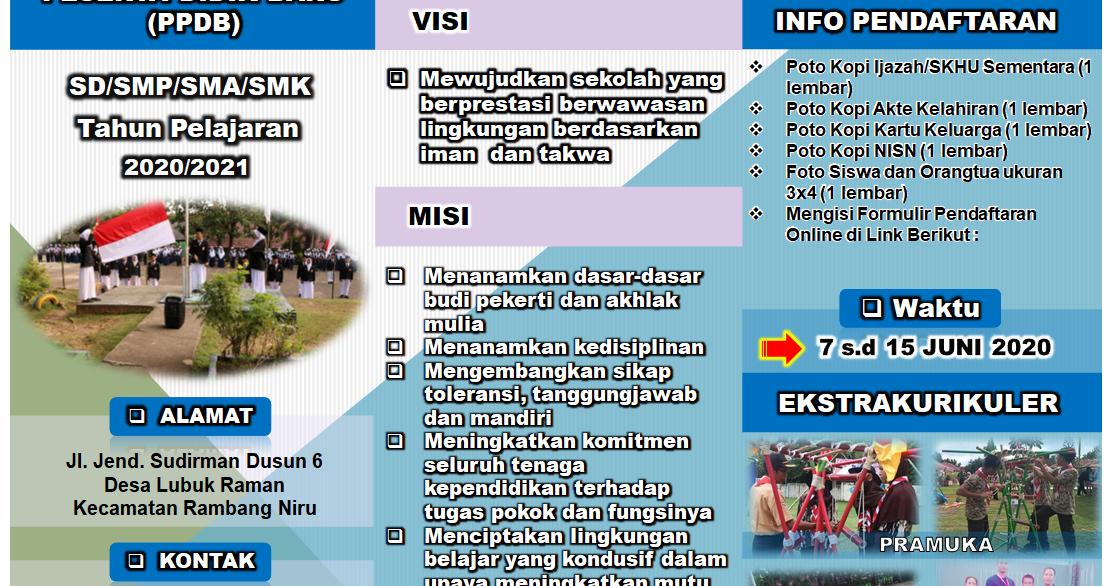 Download Brosur Ppdb 2020 2021 Bisa Diedit Sesuai Kebutuhan Info Pendidikan Terbaru