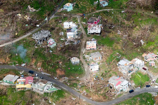 Aerial view of the devastation in Dominica following category five Hurricane Maria in September 2017. (Credit: UN Photo/Rick Bajornas) Click to Enlarge.