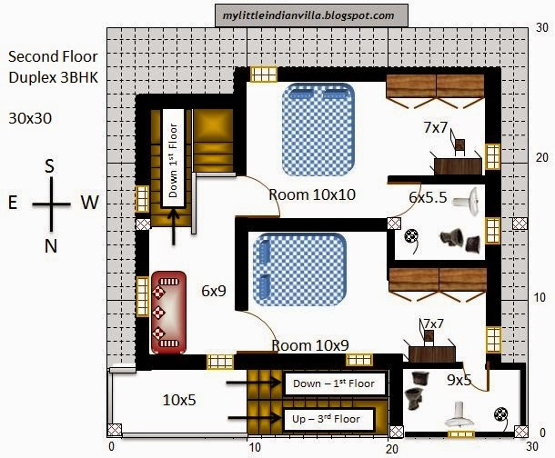 First Floor Plan For North Facing House