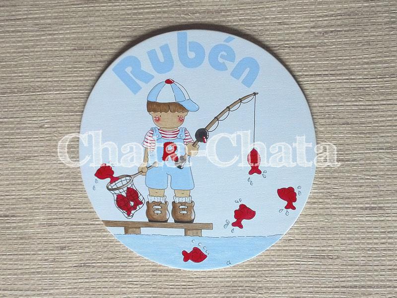Chata chata decoraci n infantil placa para rub n for Placas decoracion pared