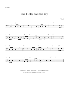 The Holly And The Ivy cello sheet music