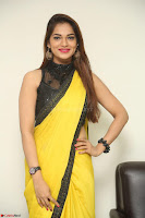 Cute Actress Ashwini in Yellow Saree Exclusive  059.JPG