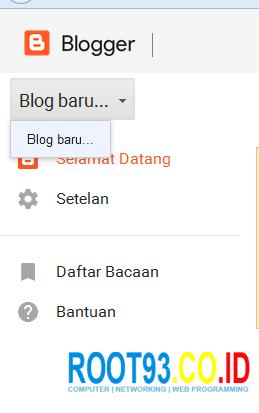 tahap pertama membuat blog baru