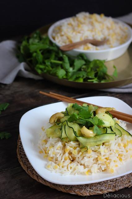 courgettes au lait de coco et riz basmati