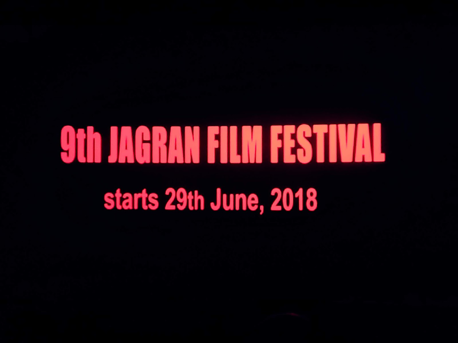 9th Jagran Film Festival 2018 | JFF - 29th June