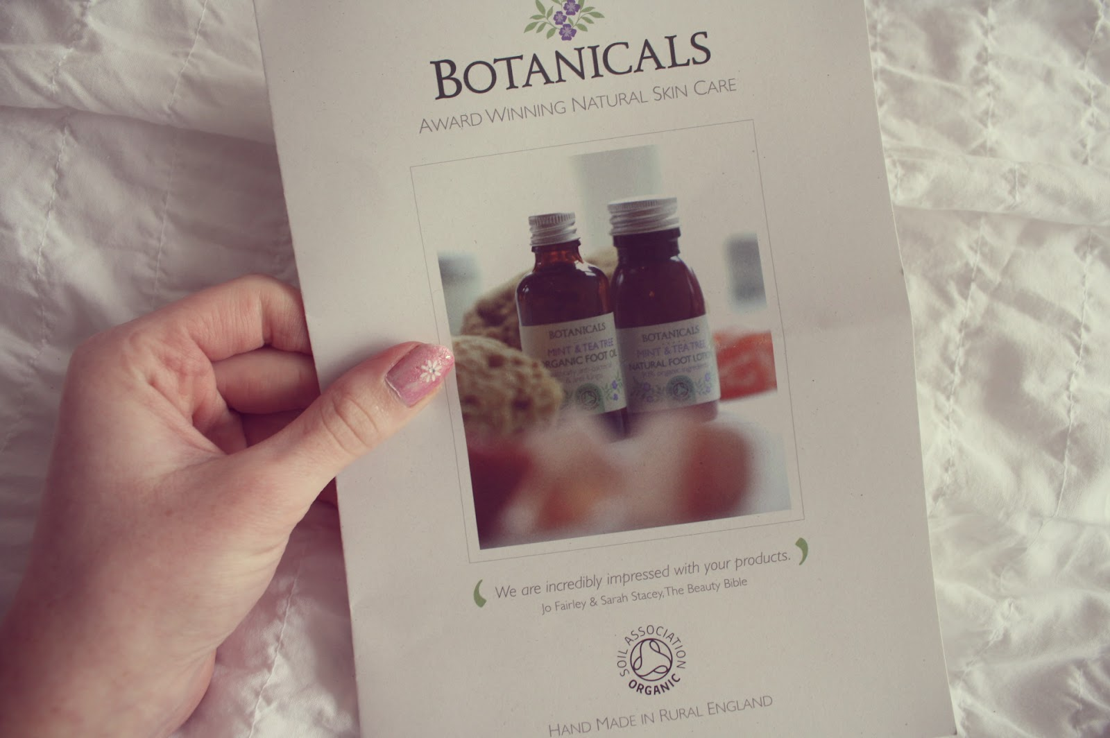 Botanicals natural skin care flyer
