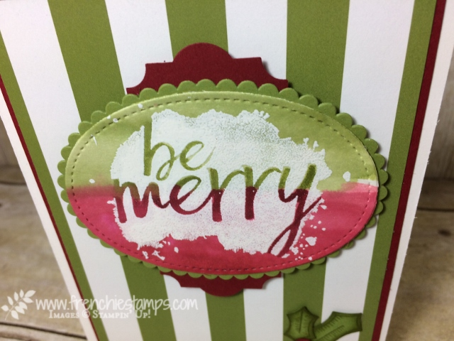 Everyday Good Wish, emboss Resist, Oval Framelits, Everyday Label Punch,  Christmas Card, Stampin'Up!