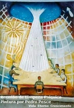 Grande Foco! Vida do Universo! Aqui estamos a irradiar pensamentos às Forças Superiores para que a luz se faça em nosso espírito, e tenhamos consciência de nossos erros, a fim de evitá-los e nos fortalecer para praticar o bem.