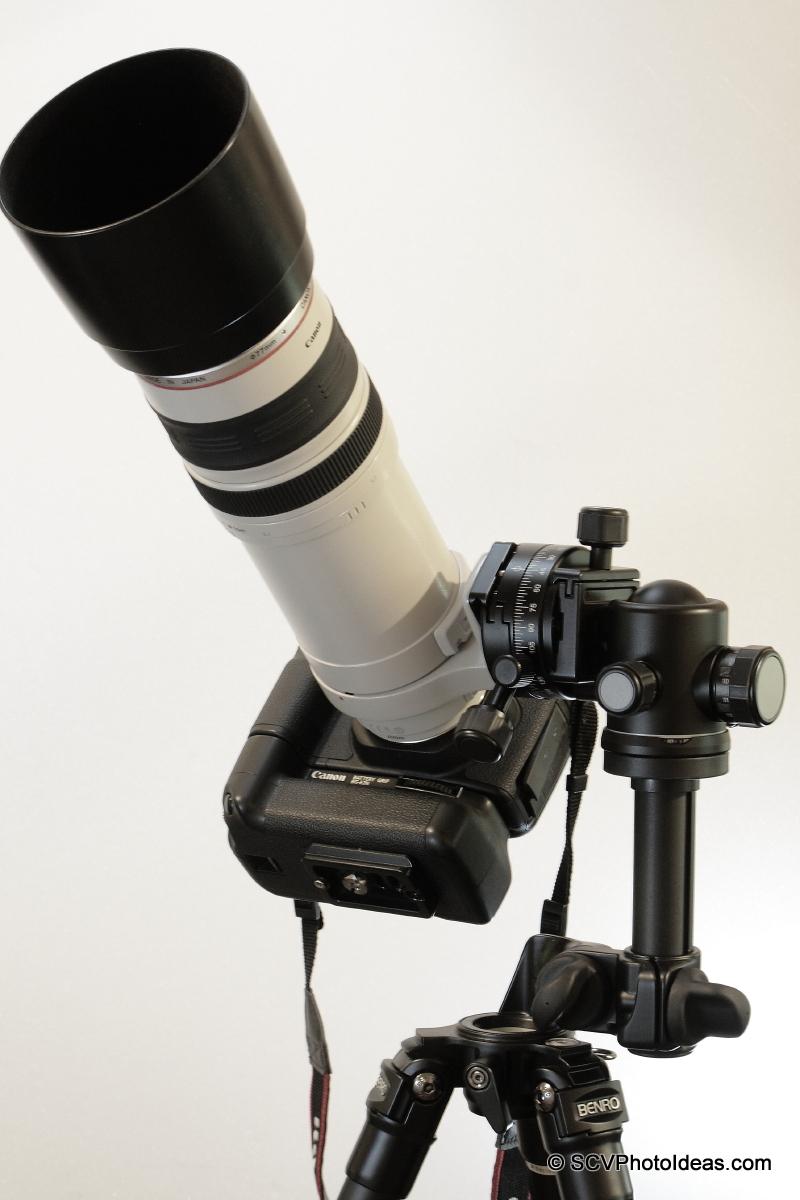 Alternative Gimbal Head w/ Canon EF 100-400 L IS USM & Canon EOS 50D bottom