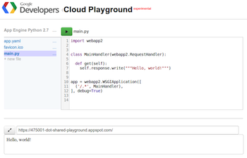 Google Cloud Playground