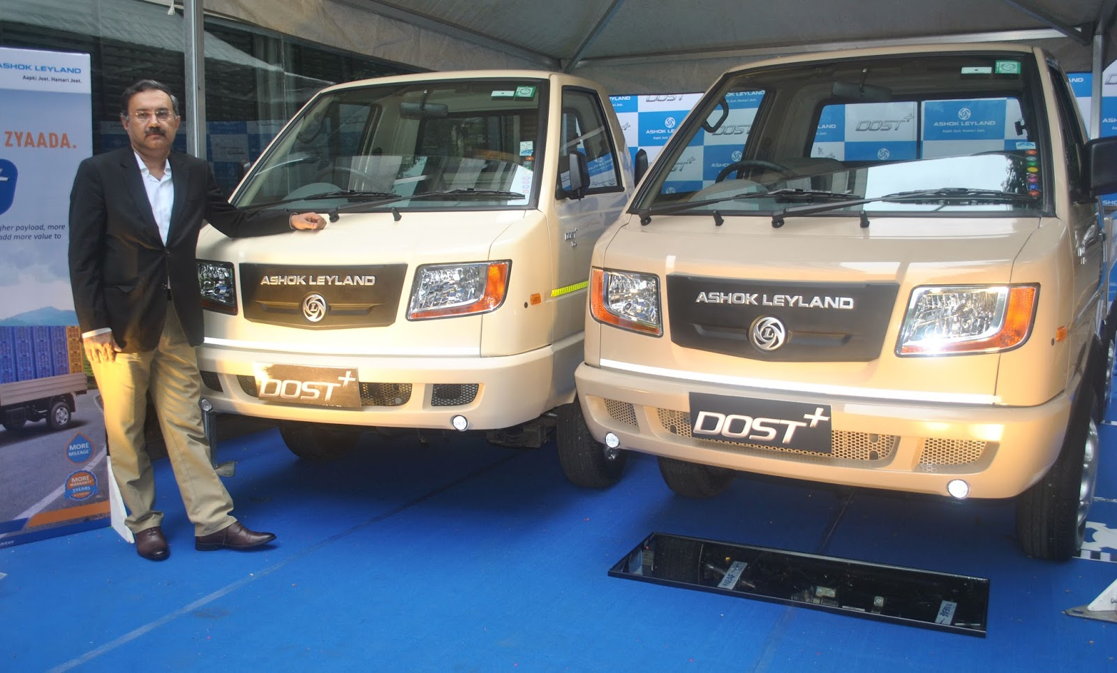 Ashok leyland launches the dost with 275 ton gvw to address the nitin seth president light commercial vehicles ashok leyland at the launch of the companys light commercial vehicle dost plus in pune mozeypictures Image collections