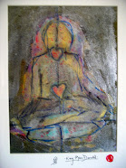 Original Meditation Pose Painting