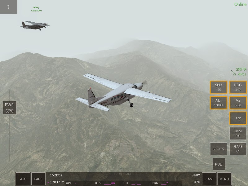 Cessna 172 Ecran du jeu multijoueurs Infinite Flight.