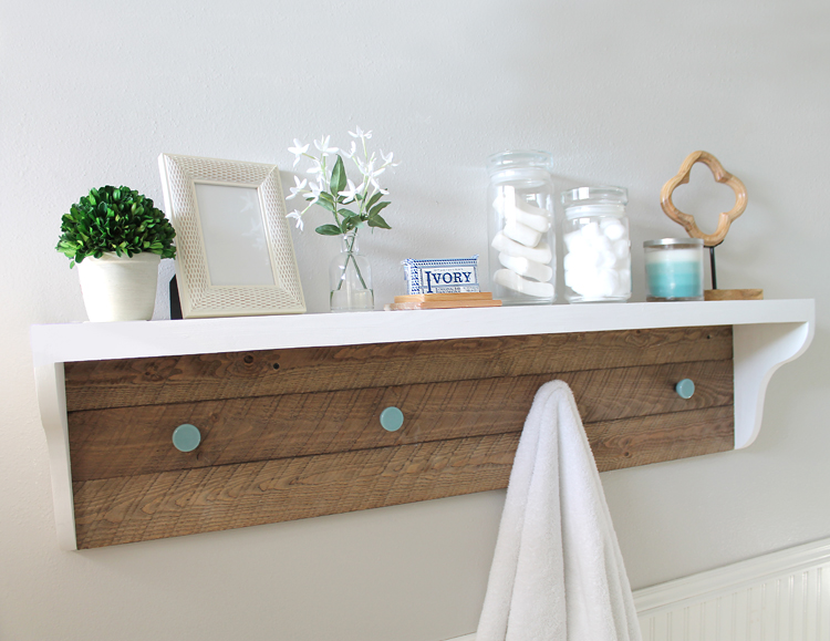 The Craft Patch DIY Farmhouse Shelf Tutorial A Bathroom Refresh