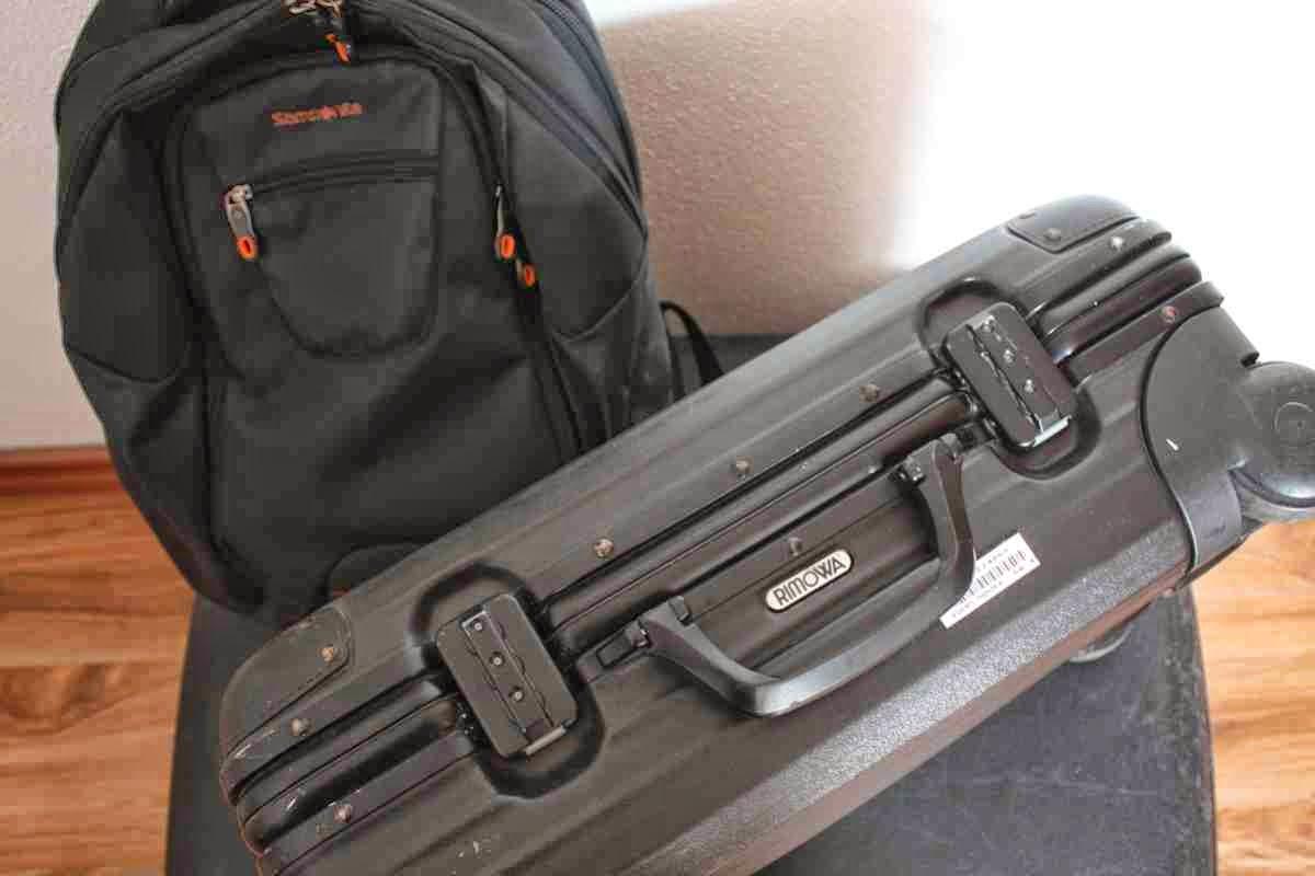 Koffer Trolley oder Rucksack