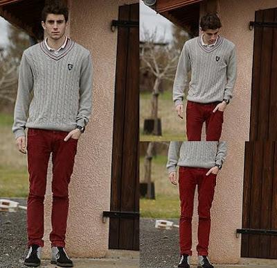 800751663e En este segundo look se vuelve a demostrar la regla ya comentada para los  pantalones de colores
