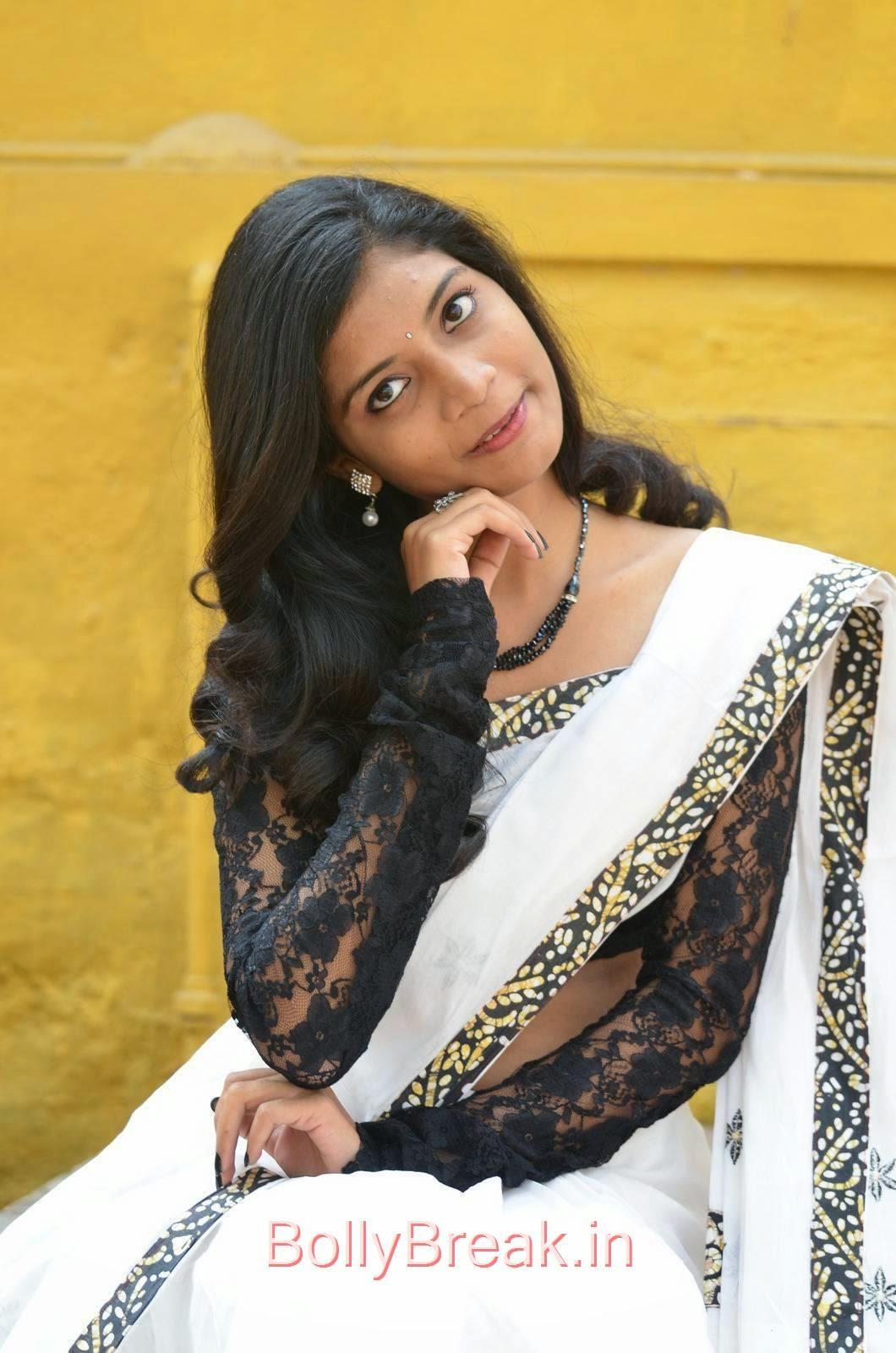 Bindu Pictures, Bindhu Latest Hot Pics In White Saree
