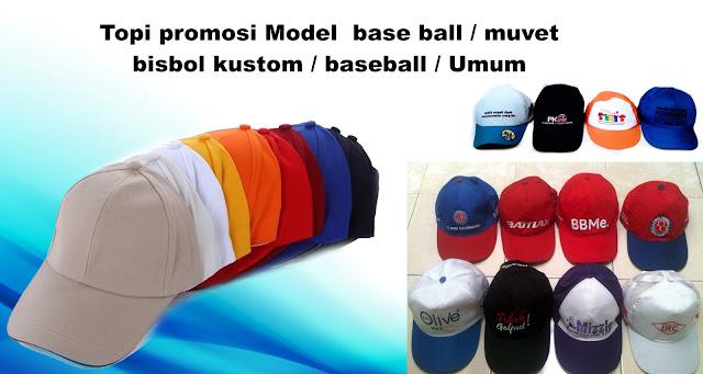 Produksi Topi promosi Model  base ball / muvet / bisbol kustom / baseball / Umum