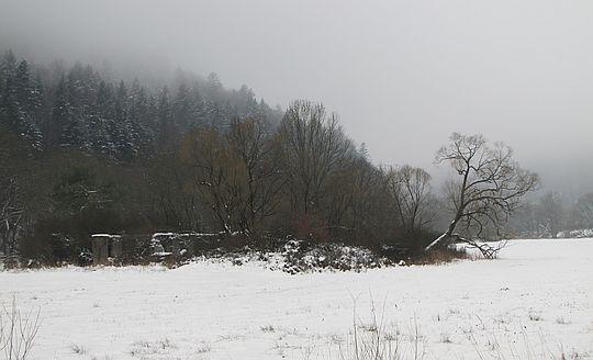 Ruiny tartaku.