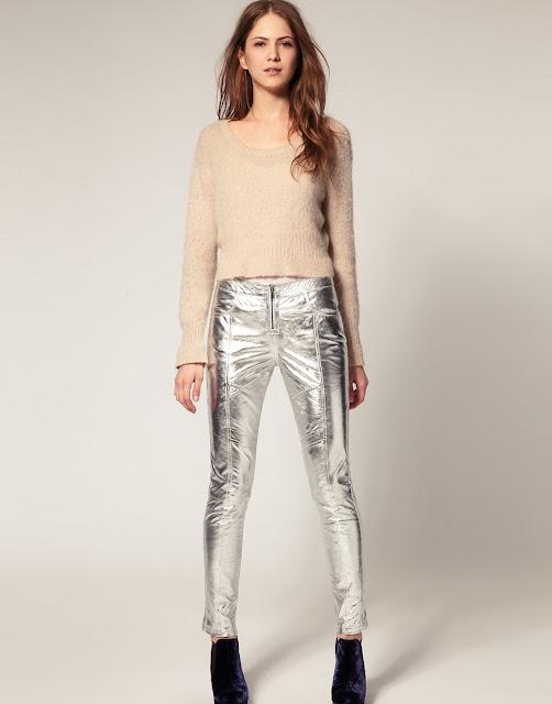 pantaloni lamè tendenza primavera estate 2017 tendenza lamè accessori lamè abiti lamè abiti metallizzati metallic street style metallic trend