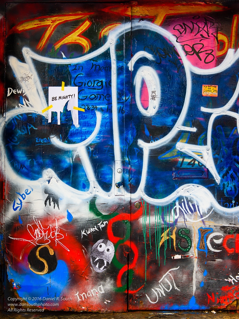 a photo of colorful graffiti in new york