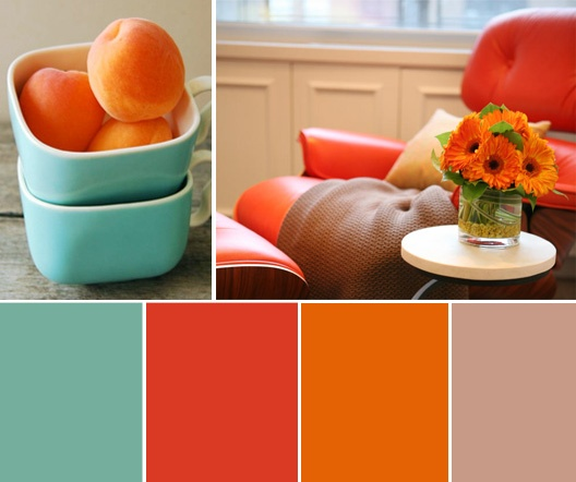 Terracotta And Turquoise Kitchen Color Scheme