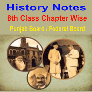 History notes all punjab boards and federal board Subjective and Objective in PDF download