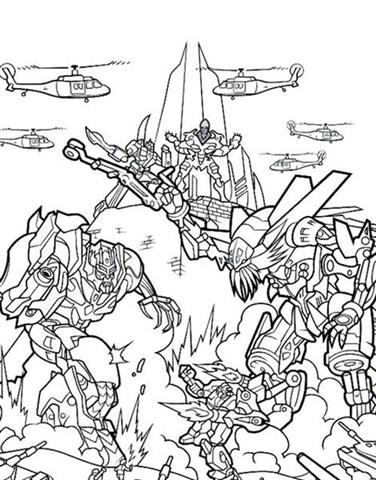 Coloring Pages Fun Transformers Coloring Pages