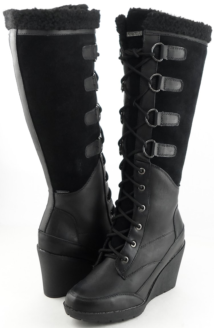 Shoe Of The Day Khombu Toronto Wedge Boots Shoeography